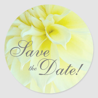 Dahlia Petals Save the Date Sticker
