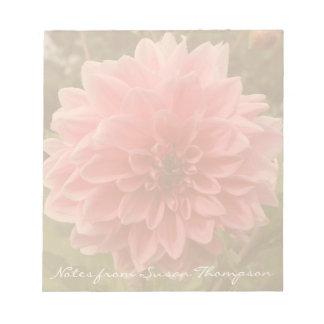 Dahlia Pink Flower Notepad