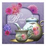 Dahlia Pink Purple Bridal Tea Shower Personalised Invite