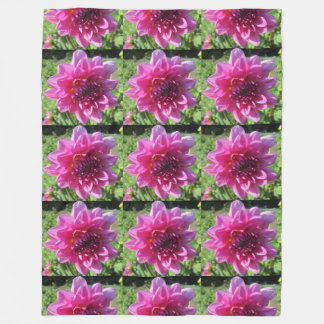 Dahlia Purple Flower Floral Fleece Blanket