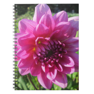 Dahlia Purple Flower Floral Spiral Note Books