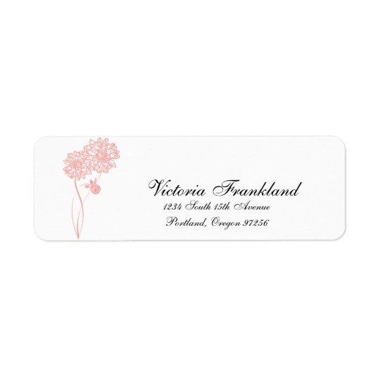 Dahlia Return Address Labels