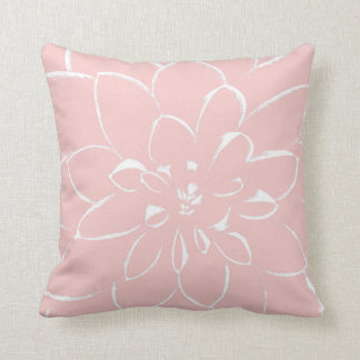 Dahlia Rose Quartz | Pink Flower Cushion