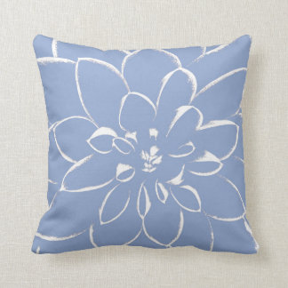 Dahlia Serenity Blue Cushion