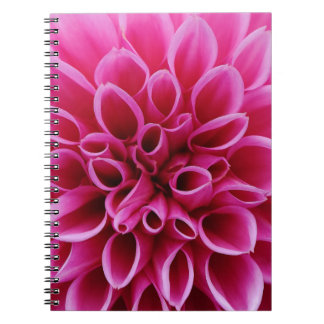 dahlia spiral notebooks