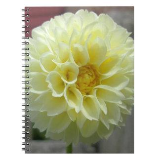 Dahlia Yellow Angle Flower Spiral Notebook