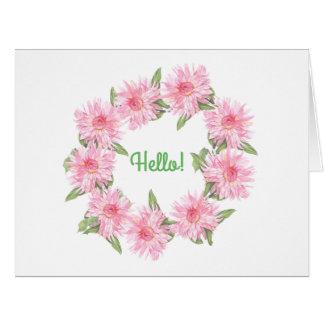 Dahlias Card