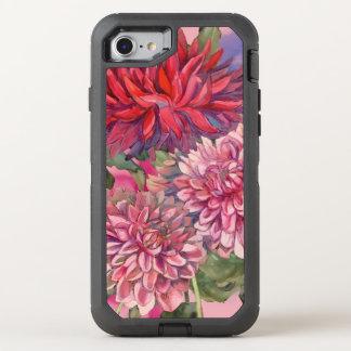 dahlias flowers OtterBox defender iPhone 8/7 case