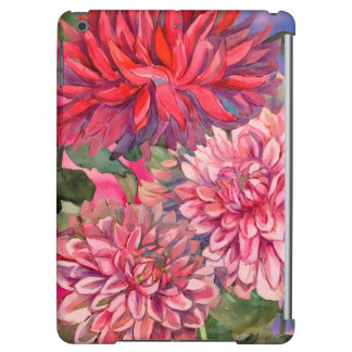 dahlias flowers watercolor