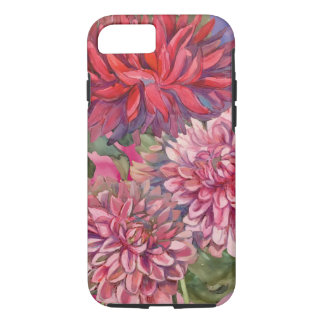 dahlias flowers watercolor iPhone 8/7 case