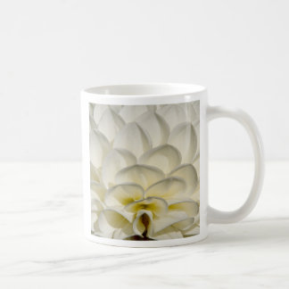 Dahlias white steps coffee mug