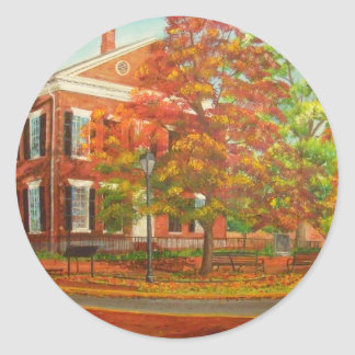 Dahlonega Gold Museum Autumn Colors Classic Round Sticker