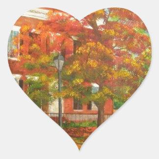 Dahlonega Gold Museum Autumn Colors Heart Sticker