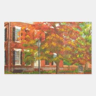 Dahlonega Gold Museum Autumn Colors Rectangular Sticker