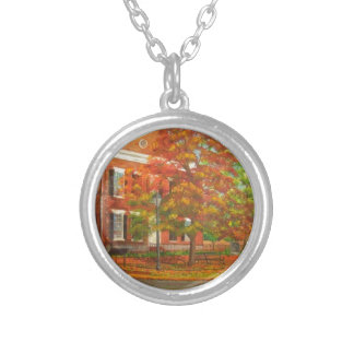 Dahlonega Gold Museum Autumn Colors Silver Plated Necklace
