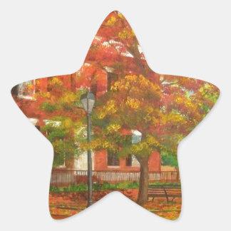 Dahlonega Gold Museum Autumn Colors Star Sticker