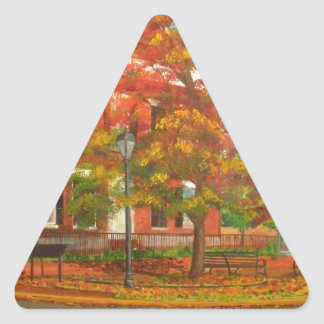 Dahlonega Gold Museum Autumn Colors Triangle Sticker