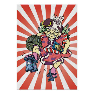 Daikoku of the Seven Lucky Gods skip Daikoku poste