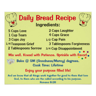 Daily Bread Recipe Poster