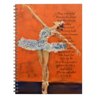Daily devotional journal with ballerina