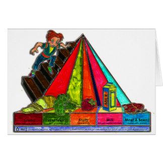 Daily Food Groups Pyramid Greeting Card