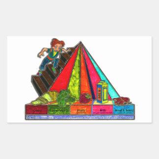 Daily Food Groups Pyramid Rectangular Sticker