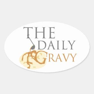 Daily Gravy Sticker But It's an Oval