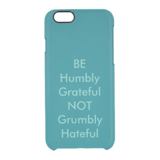 Daily Inspiration Clear iPhone 6/6S Case