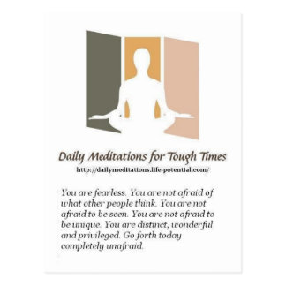 Daily Meditations Postcard