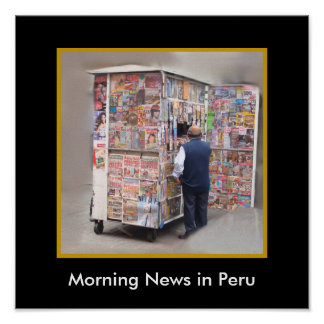 Daily News in Peru - Customizable Text Poster