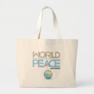 "DAILY WORD®  ""World Peace"" Large Tote Bag"