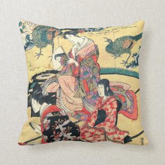 Daimyo Mansion 1801 Throw Pillow