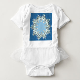 dainty Circular Shades Of Blue Baby Bodysuit