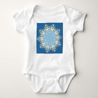 dainty Circular Shades Of Blue Baby Bodysuit