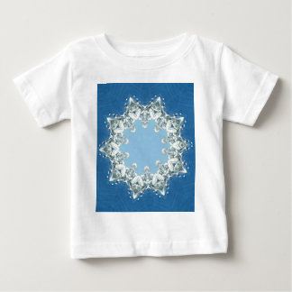 dainty Circular Shades Of Blue Baby T-Shirt