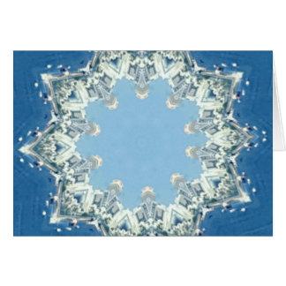 dainty Circular Shades Of Blue Card
