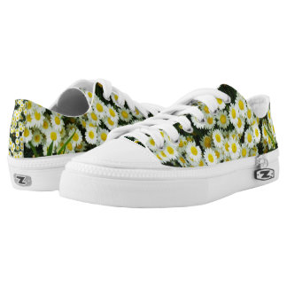 Dainty Daisy Buttons, Zipz Printed Sneakers. Printed Shoes
