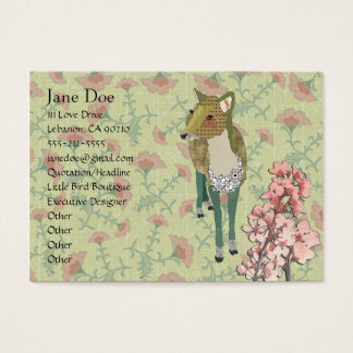 Dainty Deer Floral Business Cards