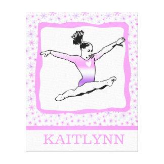 Dainty Floral Gymnastics Canvas Print