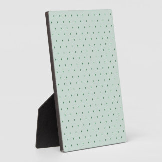 Dainty Green Polka Dots Pattern on a Lighter Green Plaque