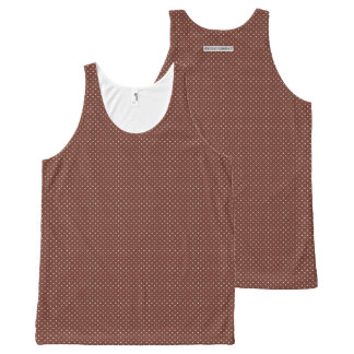 Dainty little brown polka dot pattern All-Over print tank top