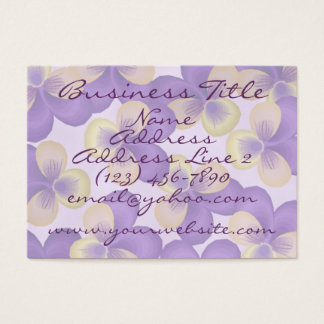 Dainty Purple Flowers Business Cards