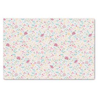 Dainty Spring Floral Pattern Tissue Paper