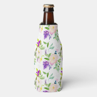 Dainty Watercolor Flowers | Peonies and Wisterias Bottle Cooler