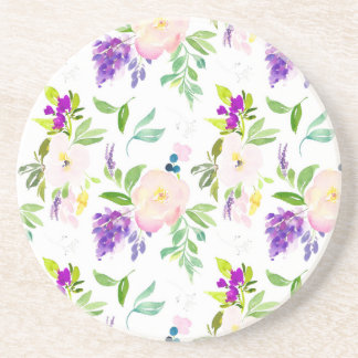 Dainty Watercolor Flowers | Peonies and Wisterias Coaster