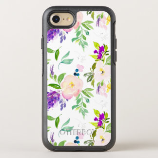 Dainty Watercolor Flowers | Peonies and Wisterias OtterBox Symmetry iPhone 8/7 Case