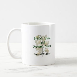 Dainty White Orchids Wedding Products Coffee Mugs
