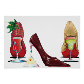 DAIQUIRI, MARTINI, MARGARITA STILETTOS POSTER
