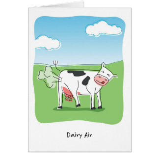 Dairy Air Cow Fart Funny Birthday Card