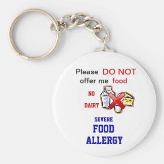 Dairy Allergy Allert Keychain